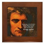 Sir Isaac Newton Space Framed Tile