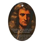 Sir Isaac Newton Space Oval Ornament