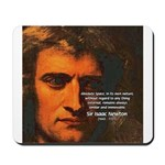 Sir Isaac Newton Space Mousepad