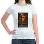 Sir Isaac Newton Space Jr. Ringer T-Shirt