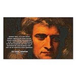 Sir Isaac Newton Space Rectangle Sticker