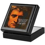 Sir Isaac Newton Space Keepsake Box
