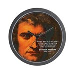 Sir Isaac Newton Space Wall Clock