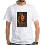 Sir Isaac Newton Space White T-Shirt