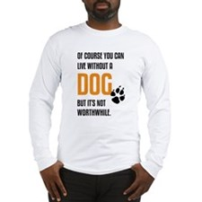 without dog black orange Long Sleeve T-Shirt