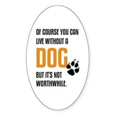 without dog black orange Decal