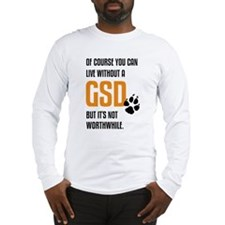without GSD black orange Long Sleeve T-Shirt