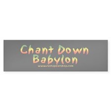 Rasta Gear Shop Chant Down Bumper Bumper Sticker
