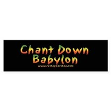 Rasta Gear Shop Chant Down Bumper Car Sticker