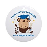 Boy Monkey Graduate Ornament (Round)