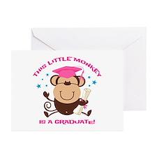 Girl Monkey Graduate Greeting Cards (Pk of 20)