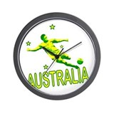Australia Soccer 2010 design #2 Wall Clock