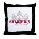 Soldier princess Throw Pillow