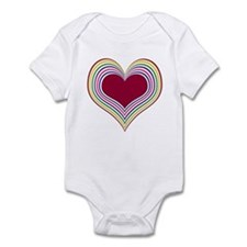 Colorful Heart Infant Creeper