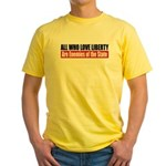 All Who Love Liberty Yellow T-Shirt