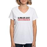 All Who Love Liberty Women's V-Neck T-Shirt