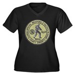 Butts County SWAT Women's Plus Size V-Neck Dark T-