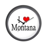 I Heart Montana Wall Clock