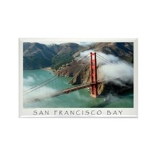 San Francisco Bay Fog Rectangle Magnet