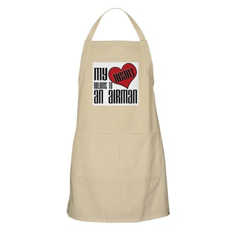 Heart Belongs Airman BBQ Apron