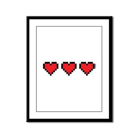 3 Hearts Framed Panel Print