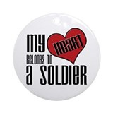 Heart Belongs Soldier Ornament (Round)