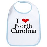 I Heart North Carolina Bib