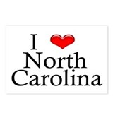 I Heart North Carolina Postcards (Package of 8)