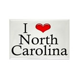 I Heart North Carolina Rectangle Magnet (10 pack)