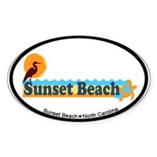 Sunset Beach NC - Beach Design Decal