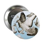 "Flying Homer Pigeons 2.25"" Button (100 pack)"
