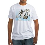 Flying Homer Pigeons Fitted T-Shirt