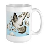 Flying Homer Pigeons Large Mug