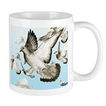Flying Homer Pigeons Mug