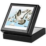 Flying Homer Pigeons Keepsake Box