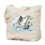 Flying Homer Pigeons Tote Bag