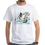 Flying Homer Pigeons White T-Shirt