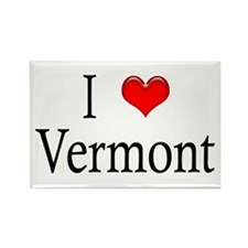 I Heart Vermont Rectangle Magnet (10 pack)