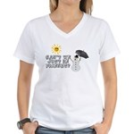 Just Be Friends Women's V-Neck T-Shirt