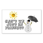 Just Be Friends Sticker (Rectangle 10 pk)