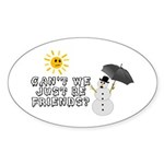 Just Be Friends Sticker (Oval 10 pk)