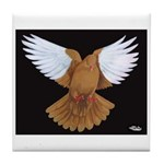 Domestic Flight Pigeon Tile Coaster