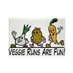 Veggie Runs Rectangle Magnet