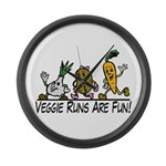 Veggie Runs Large Wall Clock