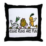 Veggie Runs Throw Pillow