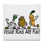 Veggie Runs Tile Coaster
