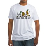 Veggie Runs Fitted T-Shirt