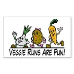 Veggie Runs Sticker (Rectangle 50 pk)