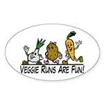 Veggie Runs Sticker (Oval 50 pk)