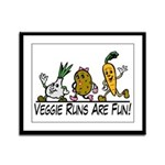 Veggie Runs Framed Panel Print